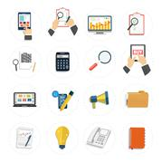 set of various financial service items - stock illustration