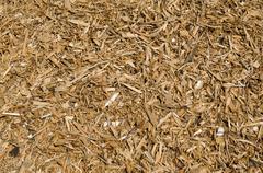 Background of woodchips -  renewable and sustainable energy Stock Photos