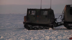 Cargo drop and Airborne Soldiers  Arctic operations Stock Footage