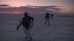 Cargo drop and Airborne Soldiers  Arctic operations - stock footage