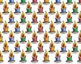 Stock Illustration of small colored candles