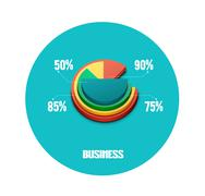 Stock Illustration of business pie chart