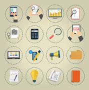 Stock Illustration of set of various financial service items