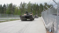 US Tanks in Germany Stock Footage