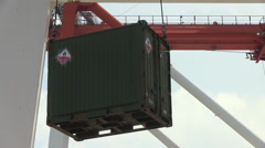 Offloading Cargo Containers Stock Footage