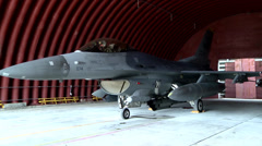 F16 Fighting Falcon Jet fighter aircraft Stock Footage