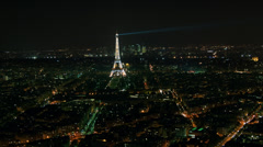 Eiffel Tower in Paris night lights , time lapse Stock Footage