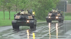 Tank Convoy Stock Footage