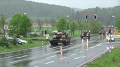 Tank Convoy Stock Footage