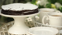 Food Baking delicious dessert chocolate cake Stock Footage
