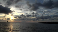 Grey clouds and calm seas, HD, UP21658 Stock Footage