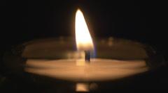 4K Candle Closeup Burning Flame Stock Footage