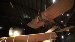 Wright 1909 Military Flyer at National Museum USAF - stock footage