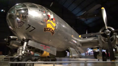 Boeing B-29 Superfortress at the National Museum of the U.S. Air Force Stock Footage