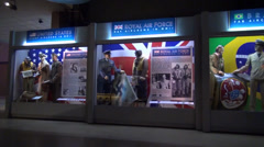 WWII Uniforms on display at the National Museum of the U.S. Air Force Stock Footage