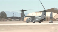 Marine Corps VMX-22 Osprey from Marine Corps Air Station Yuma Stock Footage