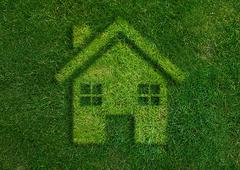 Green home green world. - stock photo