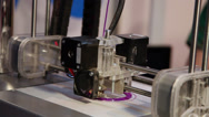 Stock Video Footage of 3D printer making accessories, three-dimensional, industrial robot, time lapse