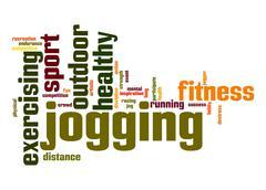 Stock Illustration of jogging word cloud