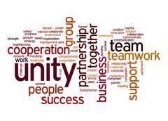 unity word cloud - stock illustration
