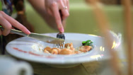 Stock Video Footage of Meals in the restaurant.