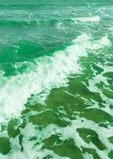 Green Soft wave of the sea Stock Photos