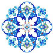 Ottoman motifs design series with twenty-six version Stock Illustration