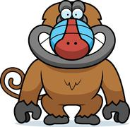 Stock Illustration of cartoon baboon grin