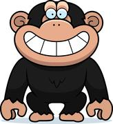 Stock Illustration of cartoon chimp grin