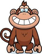Stock Illustration of cartoon monkey grin