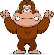 Angry cartoon bigfoot Piirros