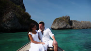 Stock Video Footage of Young couple on a boat