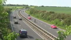 Traffic on the A14 dual carriageway. - stock footage