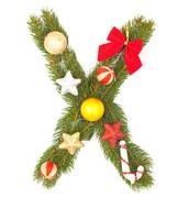 Christmas Alphabet - stock photo