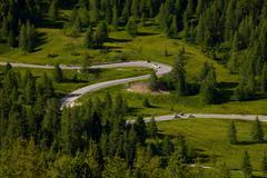 alpine road - stock photo