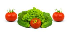 Low-calorie raw vegetables Stock Photos