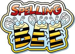 Cartoon spelling bee Stock Illustration