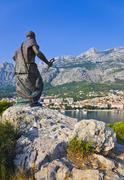 Stock Photo of Statue of St. Peter in Makarska, Croatia