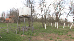 Water tank for irrigation Stock Footage