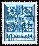 Postage stamp ireland 1923 celtic cross Kuvituskuvat