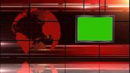 News TV Studio Set 19 - Virtual Green Screen Background Loop Stock Footage