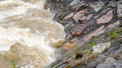 Tempestuous flow of the river Stock Footage