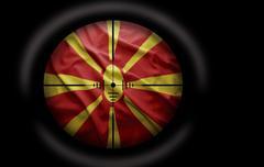 macedonian target - stock illustration