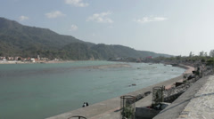 Rishikesh-Ganges River Stock Footage