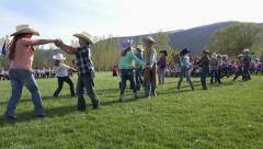 School event kids dancing end of school 4K 0309 Stock Footage