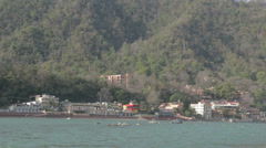 Rishikesh-Banks of the Ganges Stock Footage