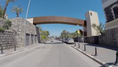Driving in Tiberias around the Sea of Galilee Stock Footage