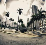 Streets and Buildings in Miami Stock Photos