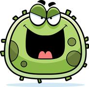 Evil germ microbe Stock Illustration