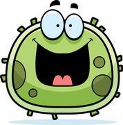 happy germ microbe - stock illustration